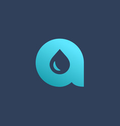 Letter a water drop logo icon design template vector