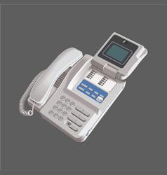 Modern telephone design vector