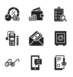 money finance icon set simple style vector image