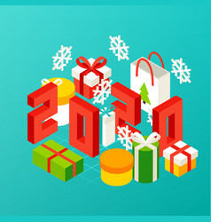 new year 2020 presents concept vector image