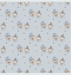 new year seamless pattern christmas pattern vector image