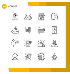 Pack 16 creative outlines mouse graphic vector