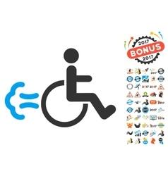 Patient Movement Icon With 2017 Year Bonus Symbols vector