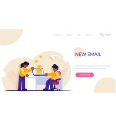 People send or receive a new email notification vector