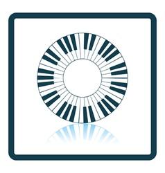 Piano circle keyboard icon vector