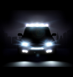 realistic car lights vector image