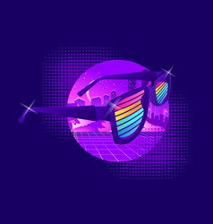 retro wave synth vector image