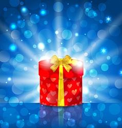Round gift box vector image