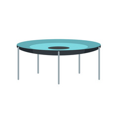 round trampoline icon flat style vector image