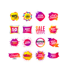 Sale banner templates special offer tags vector