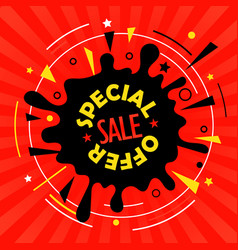 Sale tag special offer advertising banner vector