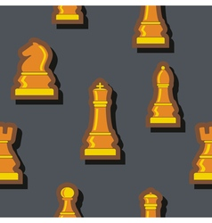 Seamless background with chess for your design vector image