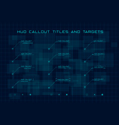 set blue callout titles and targets in hud vector image