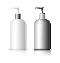 Set of realistic cosmetic dispenser bottle vector
