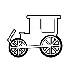 Sketch silhouette image wedding carriage without vector