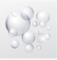 Soap bubbles isolated on transparent background vector
