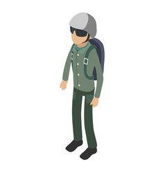 soldier icon isometric 3d style vector image
