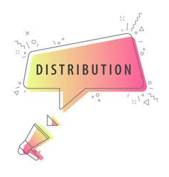 speaker and slogan distribution vector image
