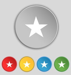 Star Favorite icon sign Symbol on five flat vector