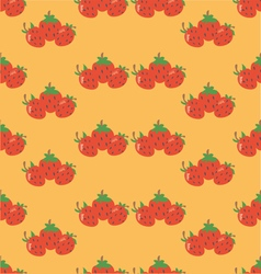 Strawberry orange background vector