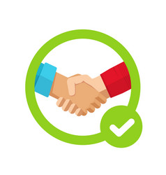 success agreement confirmation sign with check vector image