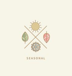 Symbols for four seasons vector