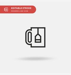 tea mug simple icon symbol vector image