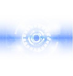 Technological abstract digital interface modern vector