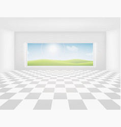 tile floor vector image