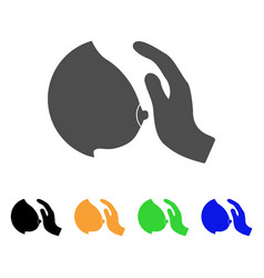 Touch female breast icon vector