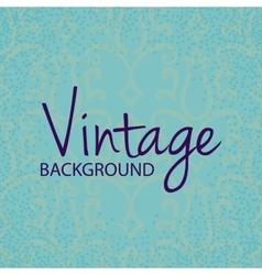 Vintage frame with floral pattern vector image