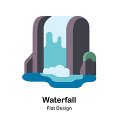Waterfall flat vector