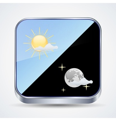 Weather forecast icon vector image