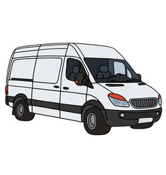 White delivery car vector