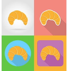 Fast food flat icons 03 vector