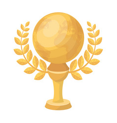 golden planet with a wreaththe trophy for the vector image vector image
