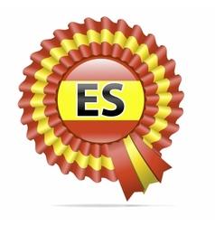 national flag badge ES vector image vector image