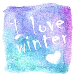 abstract winter hand-drawn watercolor vector image vector image