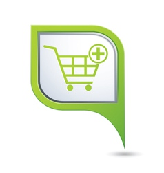 add to basket GREEN pointer vector image