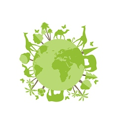Animals on the planet animal vector image