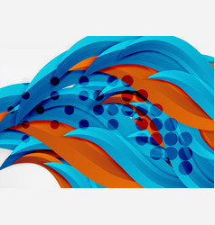 Colorful wave lines in white and grey 3d vector
