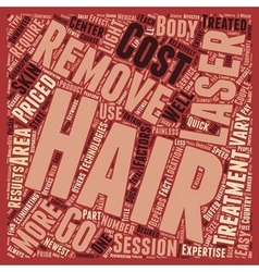 Laser Hair Removal Main Factors text background vector image vector image