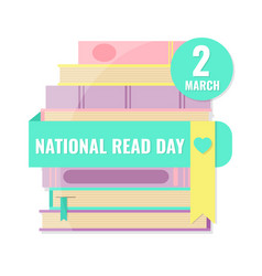 National read day and world book day concept vector