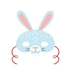 White Rabbit Animal Head Mask Kids Carnival vector image vector image