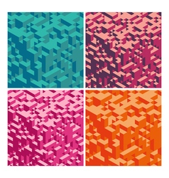 Abstract Geometrical 3d Background set vector image