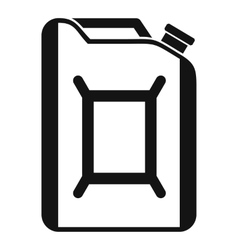 Flask for gasoline icon simple style vector image vector image