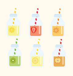fruit lemonad set vector image