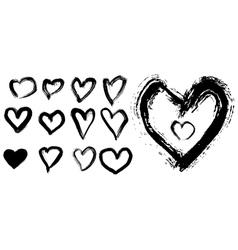 Grunge ink elements vector image