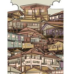 Jumbled housing vector