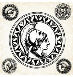 roman soldier seals vector image vector image